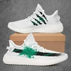 NCAA Babson Beavers Yeezy Boost White Sneakers V1