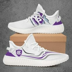 NCAA Holy Cross Crusaders Yeezy Boost White Sneakers V3