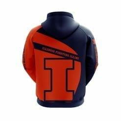 NCAA Illinois Fighting Illini 3D Hoodie V1