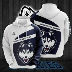 NCAA Connecticut Huskies 3D Hoodie V1