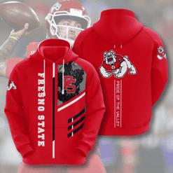 NCAA Fresno State Bulldogs 3D Hoodie V2