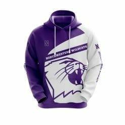 NCAA Northwestern Wildcats 3D Hoodie V1