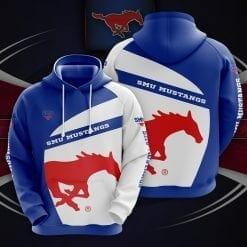 NCAA SMU Mustangs 3D Hoodie V1