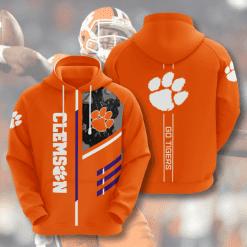 NCAA Clemson Tigers 3D Hoodie V2