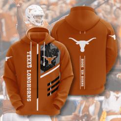 NCAA Texas Longhorns 3D Hoodie V2