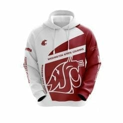 NCAA Washington State Cougars 3D Hoodie V1