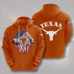 NCAA Texas Longhorns 3D Hoodie V3