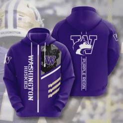 NCAA Washington Huskies 3D Hoodie V2
