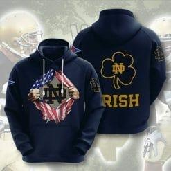 NCAA Notre Dame Fighting Irish 3D Hoodie V3