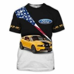 Ford Mustang 3D T-Shirt V4