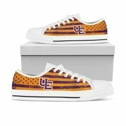 NCAA Evansville Purple Aces Low Top Shoes