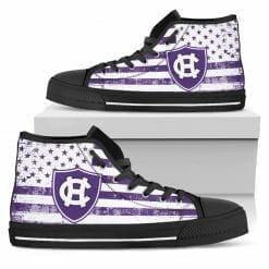 NCAA Holy Cross Crusaders High Top Shoes
