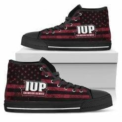 NCAA Indiana University of Pennsylvania Crimson Hawks High Top Shoes