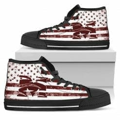 NCAA Morehouse Maroon Tigers High Top Shoes
