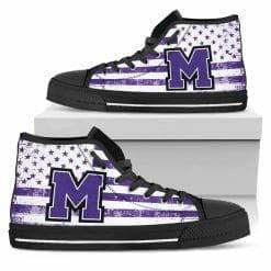 NCAA Mount Union Purple Raiders High Top Shoes