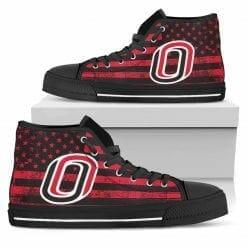 NCAA Nebraska Omaha Mavericks High Top Shoes