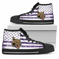 NCAA NYU Violets High Top Shoes