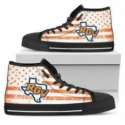 NCAA UTPA Broncs High Top Shoes