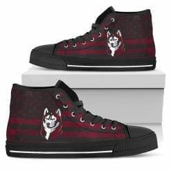 NCAA Bloomsburg Huskies High Top Shoes