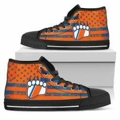 NCAA Coast Guard Academy Bears High Top Shoes