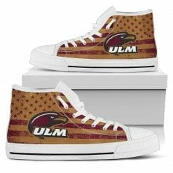 NCAA Louisiana-Monroe Warhawks High Top Shoes