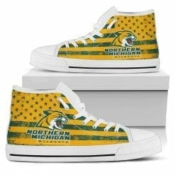 NCAA Northern Michigan Wildcats High Top Shoes