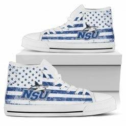 NCAA Nova Southeastern Sharks High Top Shoes