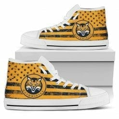 NCAA Quinnipiac Bobcats High Top Shoes