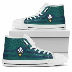 NCAA UNC Wilmington Seahawks High Top Shoes