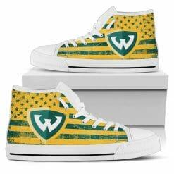 NCAA Wayne State Warriors High Top Shoes