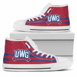 NCAA West Georgia Wolves High Top Shoes