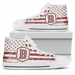 NCAA Bradley Braves High Top Shoes
