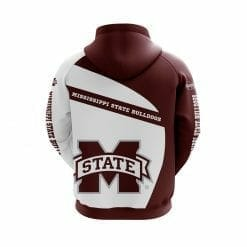 NCAA Mississippi State Bulldogs 3D Hoodie V1