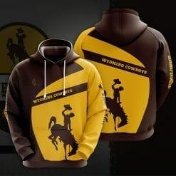 NCAA Wyoming Cowboys 3D Hoodie V1