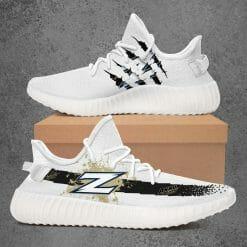 NCAA Akron Zips Yeezy Boost White Sneakers V1
