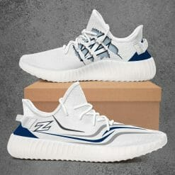 NCAA Akron Zips Yeezy Boost White Sneakers V3