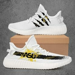 NCAA Alabama State Hornets Yeezy Boost White Sneakers V1