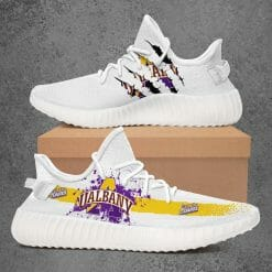 NCAA Albany Great Danes Yeezy Boost White Sneakers V1