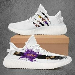 NCAA Alcorn State Braves Yeezy Boost White Sneakers V1