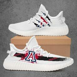 NCAA Arizona Wildcats Yeezy Boost White Sneakers V1
