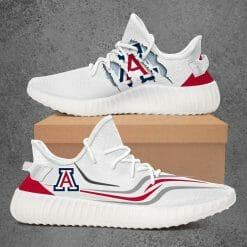 NCAA Arizona Wildcats Yeezy Boost White Sneakers V3