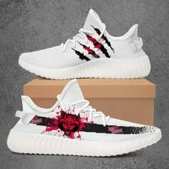 NCAA Arkansas State Red Wolves Yeezy Boost White Sneakers V1