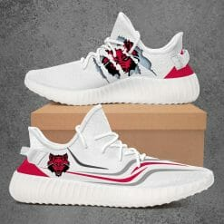 NCAA Arkansas State Red Wolves Yeezy Boost White Sneakers V2