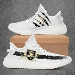NCAA Army Black Knights Yeezy Boost White Sneakers V1