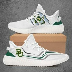 NCAA Baylor Bears Yeezy Boost White Sneakers V3