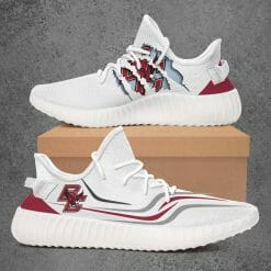 NCAA Boston College Eagles Yeezy Boost White Sneakers V3