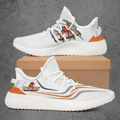 NCAA Bowling Green Falcons Yeezy Boost White Sneakers V3