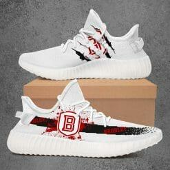 NCAA Bradley Braves Yeezy Boost White Sneakers V1