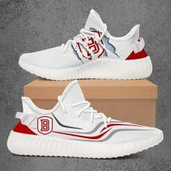 NCAA Bradley Braves Yeezy Boost White Sneakers V3