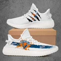 NCAA Bucknell Bison Yeezy Boost White Sneakers V1